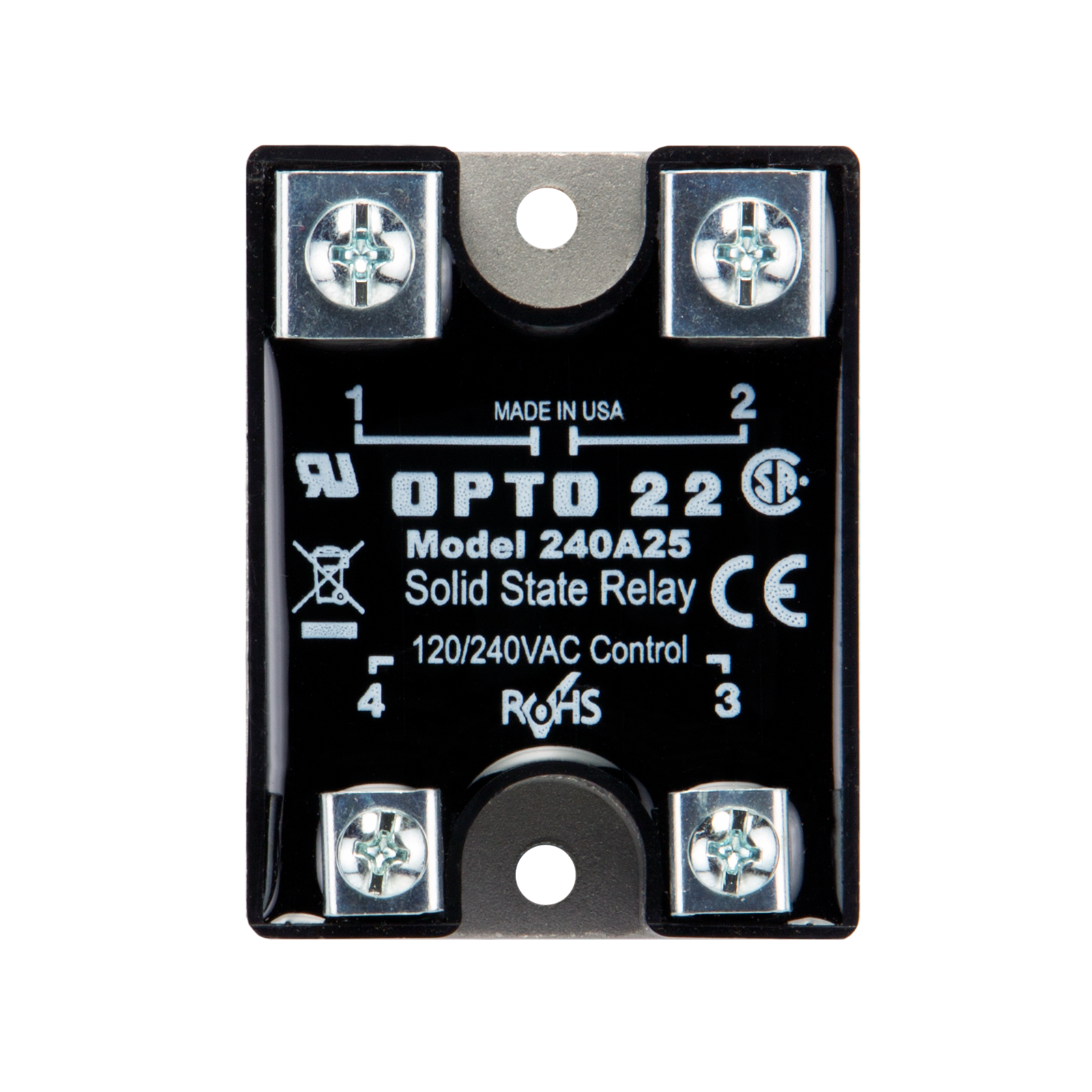 Opto22 240a25 240 Vac 25 Amp Ac Control Solid State Relay Ssr Crydom
