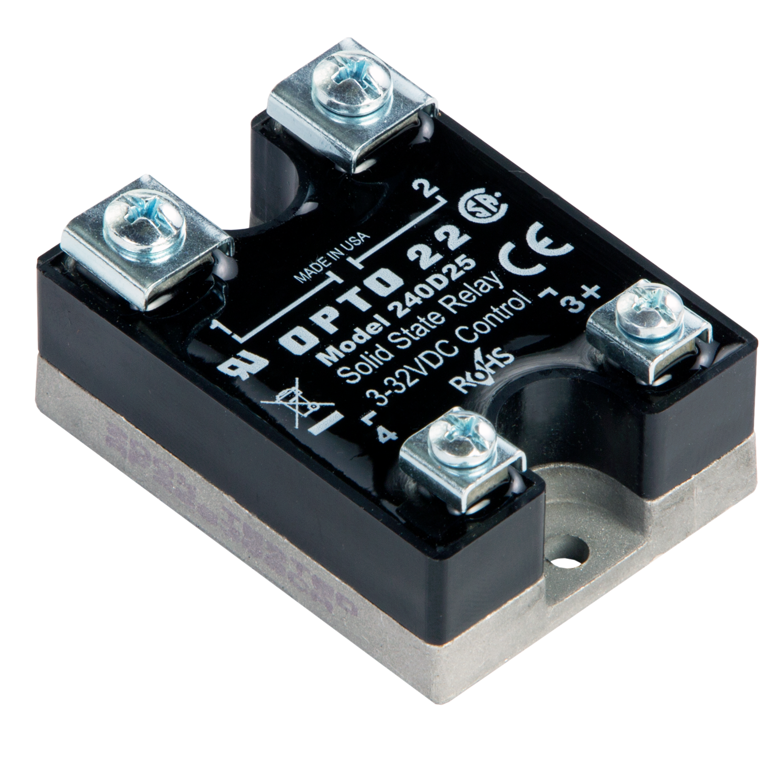 opto22 240d25 240 vac, 25 amp, dc control solid state relay (ssr)Ssr Control 240 Vac Schematic #13