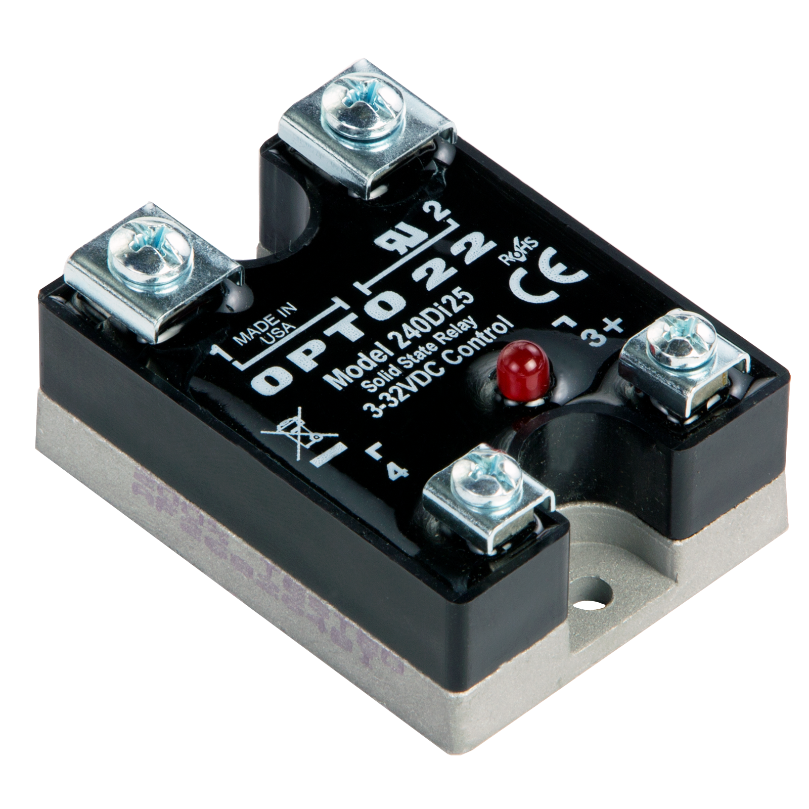 Opto 22 Wiring Diagram Online 240vac Opto22 240di25 240 Vac 25 Amp Dc Control Solid State Relay Pb4