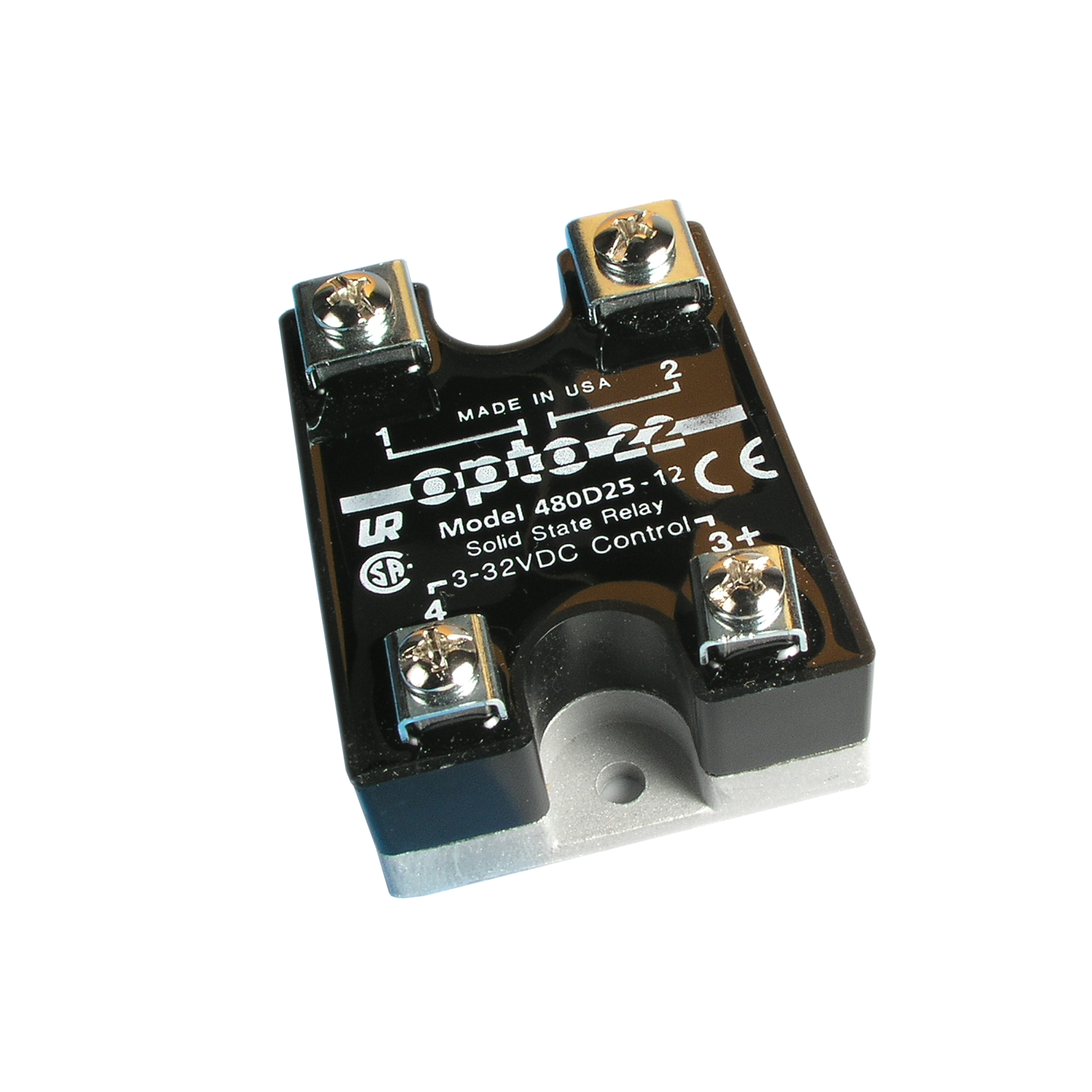 Opto22 480d25 12 480 Vac 25 Amp Dc Control Solid State Relay Basic Relays