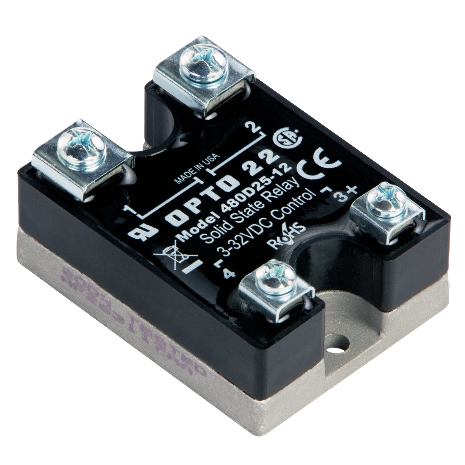 Opto22 480d25 12 480 Vac 25 Amp Dc Control Solid State Relay Nominal Current Previous