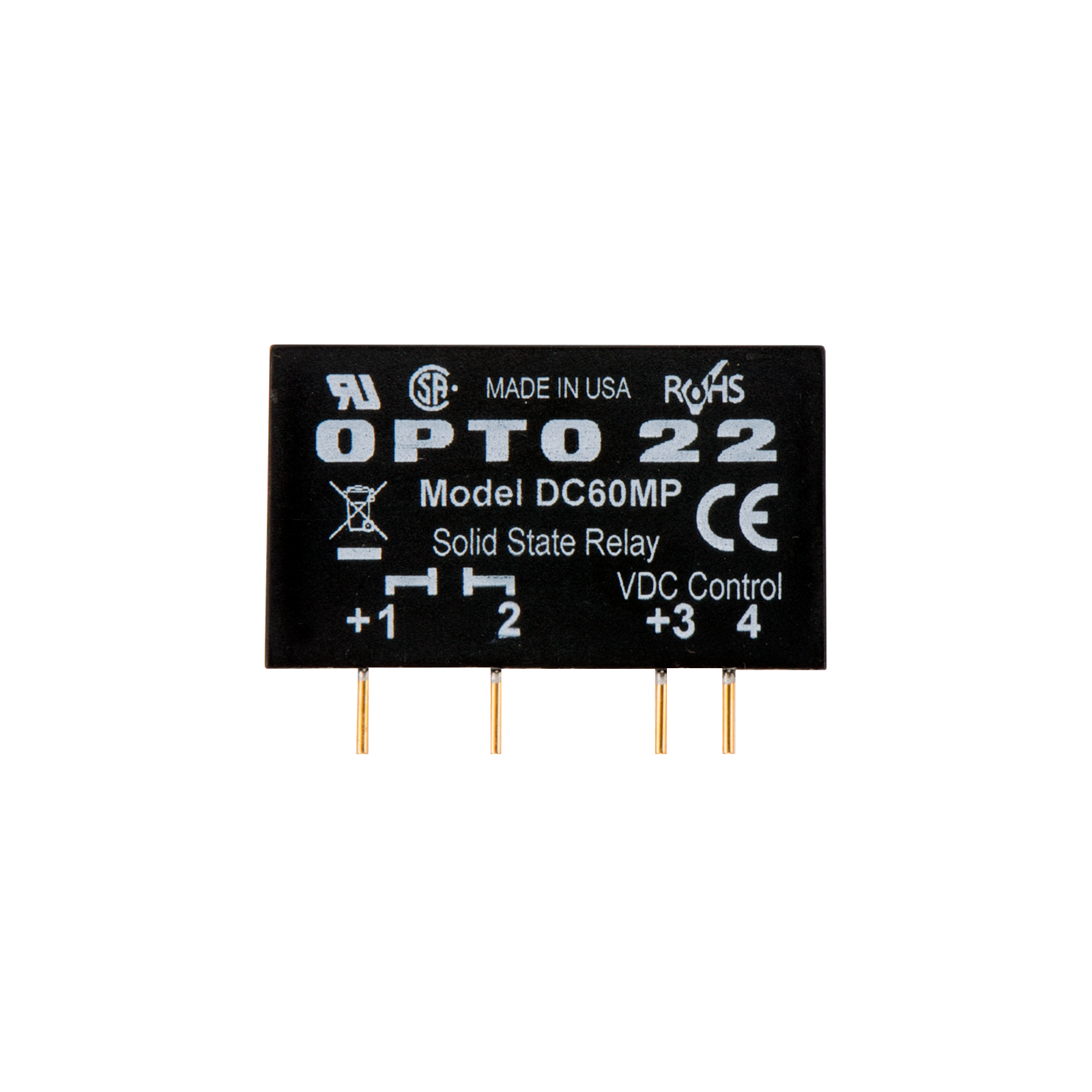Opto22 Dc60mp Mp Model 60 Vdc 3 Amp Dc Control Solid State Relay
