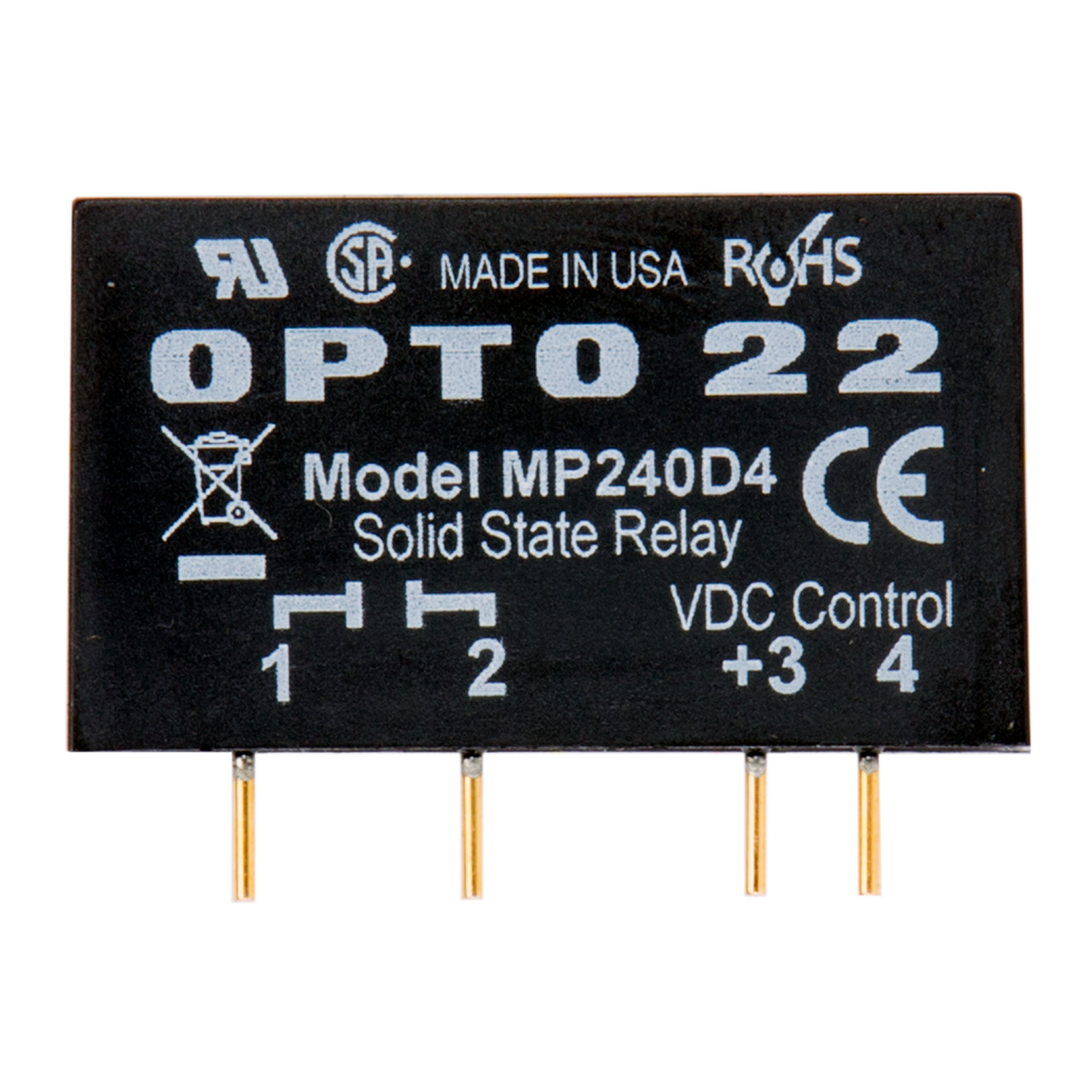 Opto22 Mp240d4 Mp Model 240 Vac 4 Amp Dc Control Solid State Relay Working Next
