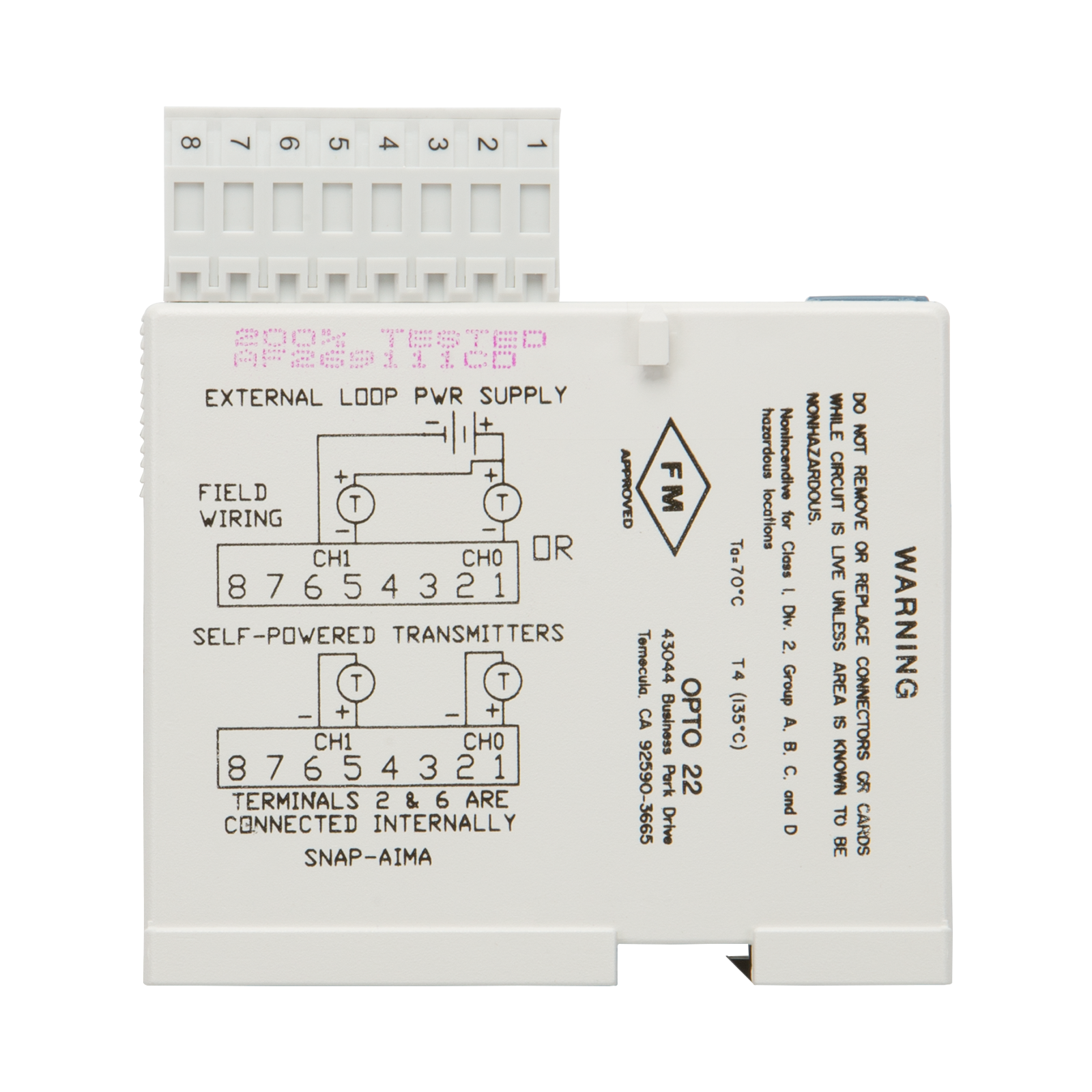 Opto 22 Wiring Diagram Diagrams Bourns Opto22 Snap Aima 2 Ch 20ma To Analog Current Input