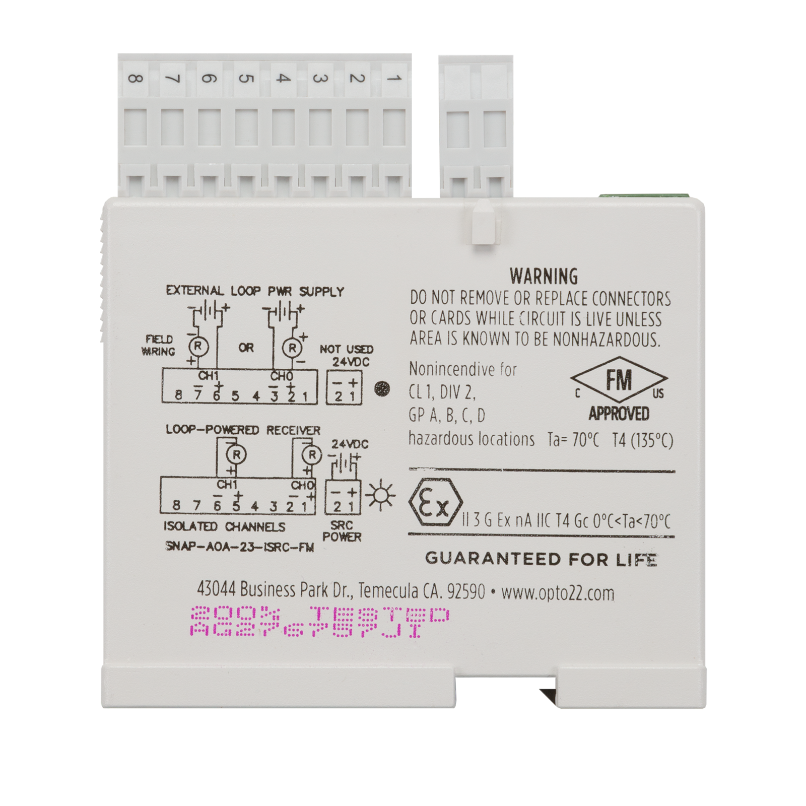 Opto22 Snap Aoa 23 Isrc Fm Isolated 2 Ch 4 20 Ma Current Opto 22 Wiring Diagram Previous
