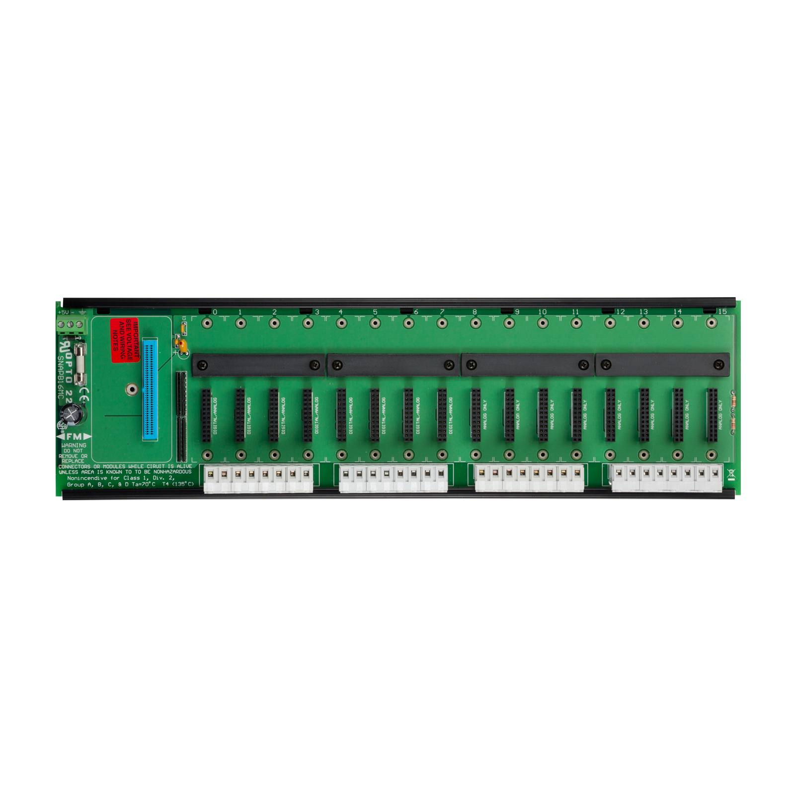 Opto22 Snap B16mc P B Series 16 Module Rack With Extra Ifm Wiring Block Previous