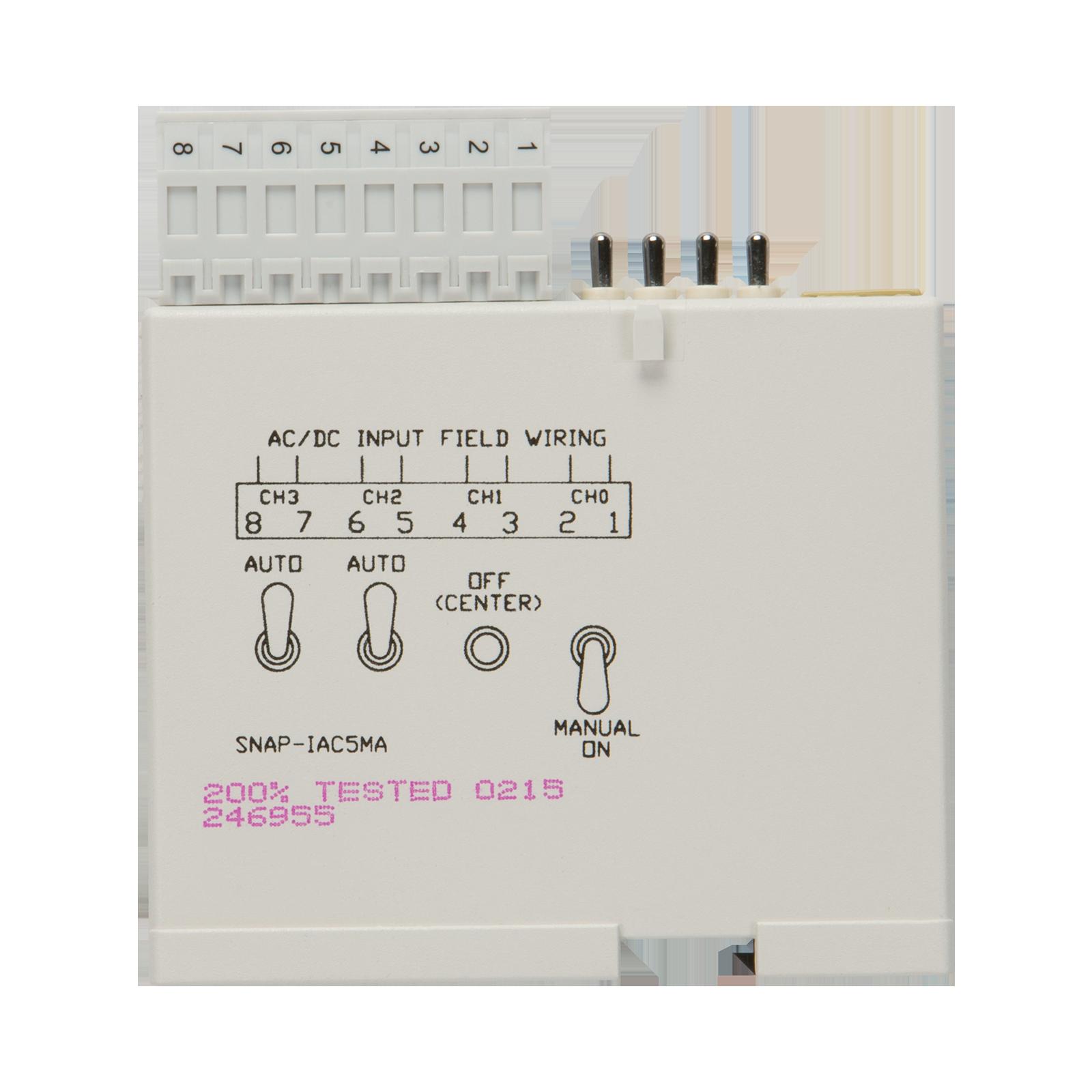 Opto22 Snap Iac5ma 4 Ch Isolated 90 140 Vac Vdc Digital Circuits Manual Previous