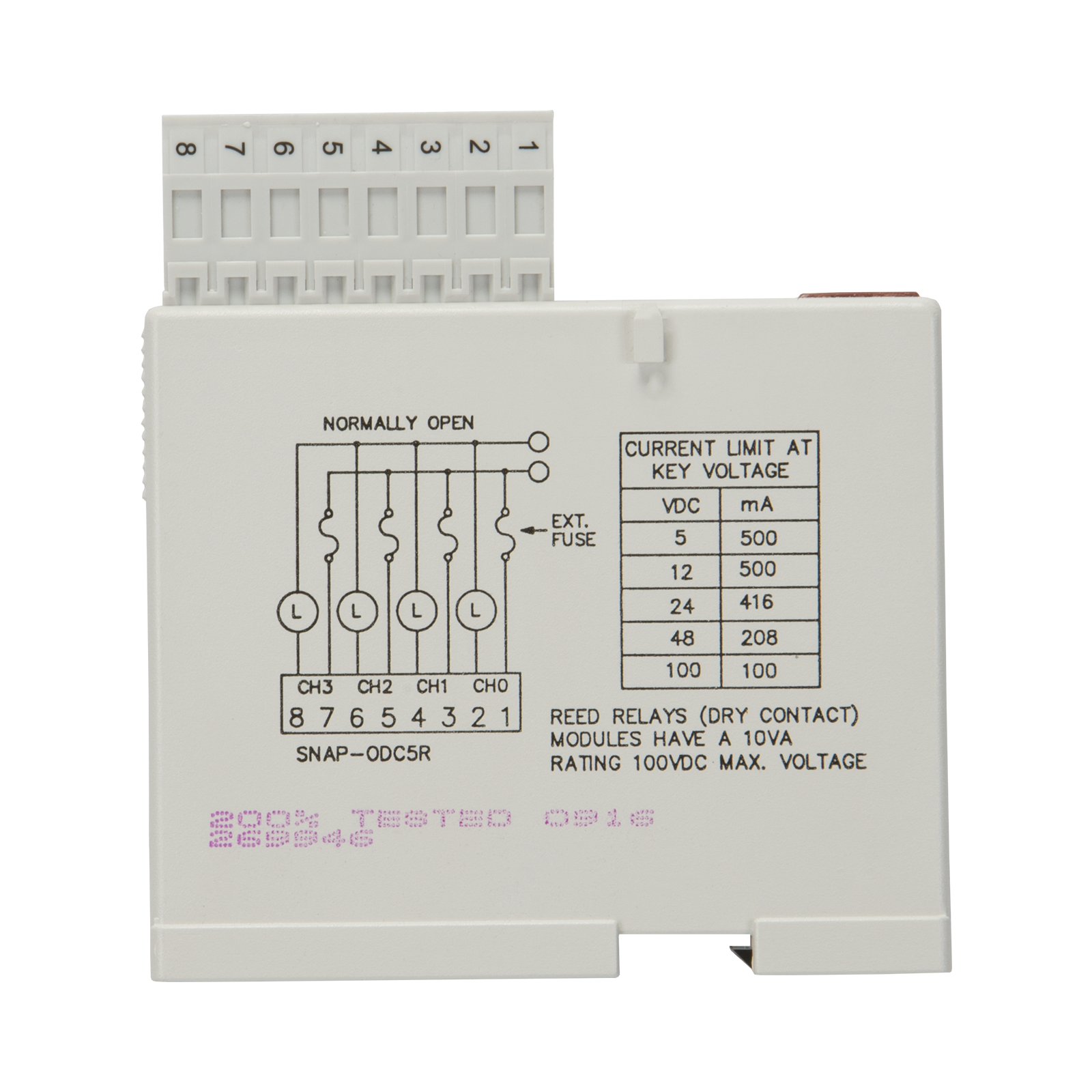 Opto22 Snap Odc5r 4 Ch Reed Relay Digital Discrete Output Current Driver Previous