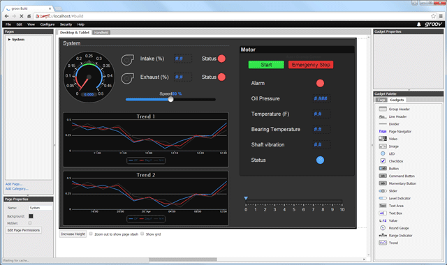 groov View in Build mode: easy HMI development