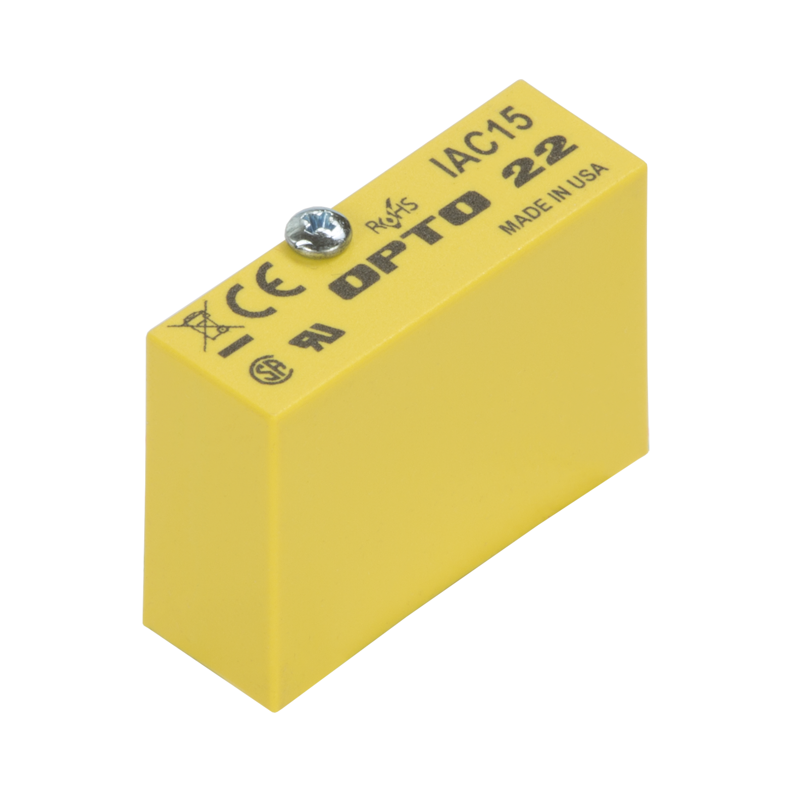 Opto 22 IAC15 AC Input 4000 Volt I//O Isolation 5 mA Input Current 15 VDC Logic 90-140 VAC